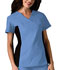 Photograph of Flexibles Women's V-Neck Knit Panel Top Blue 2874-CIEB