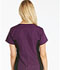 Photograph of Flexibles Women V-Neck Knit Panel Top Purple 2874-EGPB