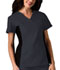 Photograph of Flexibles Women's V-Neck Knit Panel Top Black 2874-PWTB