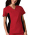 Photograph of Flexibles Women V-Neck Knit Panel Top Red 2874-REDB