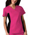 Photograph of Cherokee Flexibles Women\'s V-Neck Knit Panel Top Pink 2874-SHPB