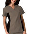 Photograph of Cherokee Flexibles Women's V-Neck Knit Panel Top Neutral 2874-TAUB