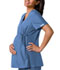 Photograph of Flexibles Women's Maternity Mock Wrap Knit Panel Top Blue 2892-CIEB