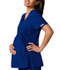 Photograph of Cherokee Flexibles Women\'s Maternity Mock Wrap Knit Panel Top Blue 2892-GABB