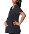 Photograph of Flexibles Women's Maternity Mock Wrap Knit Panel Top Black 2892-PWTB