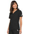 Photograph of Flexibles Women's V-Neck Knit Panel Top Black 2968-BLKB