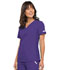 Photograph of Flexibles Women's V-Neck Knit Panel Top Purple 2968-GRPB