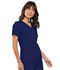 Photograph of Flexibles Women's V-Neck Knit Panel Top Blue 2968-NVYB
