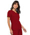 Photograph of Flexibles Women's V-Neck Knit Panel Top Red 2968-REDB
