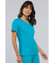 Photograph of Flexibles Women's V-Neck Knit Panel Top Green 2968-TELB