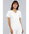 Photograph of Flexibles Women V-Neck Knit Panel Top White 2968-WHTS