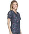 Photograph of Cherokee Flexibles Women's Mock Wrap Knit Panel Top Dash Me If You Can 2988C-DHME