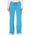 Photograph of Bliss Women's Mid Rise Moderate Flare Drawstring Pant Blue 46002A-TQCH