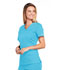 Photograph of WW Core Stretch Women's V-Neck Top Blue 4710-TRQW