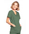 Photograph of WW Core Stretch Women's Mock Wrap Top Green 4728-OLVW