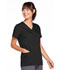 Photograph of WW Originals Women's Snap Front V-Neck Top Black 4770-BLKW
