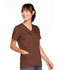 Photograph of WW Originals Women's Snap Front V-Neck Top Brown 4770-CHCW