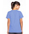 Photograph of WW Originals Women's Snap Front V-Neck Top Blue 4770-CIEW