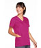 Photograph of WW Originals Women's Snap Front V-Neck Top Red 4770-RASW