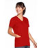 Photograph of WW Originals Women Snap Front V-Neck Top Red 4770-REDW