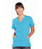 Photograph of WW Originals Women's Snap Front V-Neck Top Blue 4770-TRQW