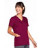 Photograph of WW Originals Women's Snap Front V-Neck Top Purple 4770-WINW