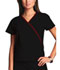 Photograph of WW Originals Women's Mini Mock Wrap Top Black 4800-BLKW
