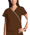 Photograph of WW Originals Women's Mini Mock Wrap Top Brown 4800-CHCW