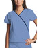 Photograph of WW Originals Women's Mini Mock Wrap Top Blue 4800-CIEW