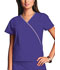 Photograph of WW Originals Women\'s Mini Mock Wrap Top Purple 4800-GRPW