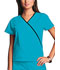 Photograph of WW Originals Women\'s Mini Mock Wrap Top Blue 4800-TRQW