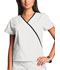 Photograph of WW Originals Women's Mini Mock Wrap Top White 4800-WHTW