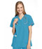 Photograph of WW Originals Women\'s Mock Wrap Tunic Blue 4801-MABW