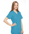 Photograph of WW Originals Women's Mock Wrap Tunic Blue 4801-MABW