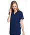 Photograph of WW Originals Women Mock Wrap Tunic Blue 4801-NAVW