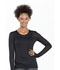 Photograph of WW Originals Women's Long Sleeve Underscrub Knit Tee Black 4823-BLKW