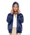 Photograph of Classroom Child's Unisex Youth Unisex Zip Front Bomber Jacket Blue 53402-NAVY