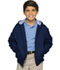 Photograph of Classroom Child\'s Unisex Youth Unisex Zip Front Bomber Jacket Blue 53402-NAVY