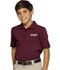 Photograph of Classroom Child's Unisex Youth Unisex Short Sleeve Pique Polo Purple 58322-BUR