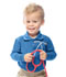 Photograph of Classroom Preschool Preschool Unisex LS Pique Polo Blue 58350-ROY