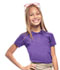 Photograph of Classroom Girl\'s Girls Short Sleeve Fitted Interlock Polo Purple 58582-PUR