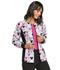 Photograph of Licensed Prints Women Zip Front Knit Panel Warm-Up Jacket Gray 6315C-MKMK