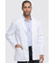 "Photograph of Dickies Gen Flex 31"" Men's Snap Front Lab Coat in White"