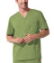 Photograph of Gen Flex Men's Men's V-Neck Top Green 81722-DSGZ