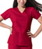 Photograph of Dickies Gen Flex Women\'s Mock Wrap Top Red 817355-CRMZ
