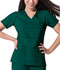 Photograph of Dickies Gen Flex Women's Mock Wrap Top Green 817355-HTRZ