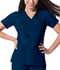 Photograph of Gen Flex Women Mock Wrap Top Blue 817355-NVYZ