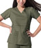 Photograph of Dickies Gen Flex Mock Wrap Top in Olive