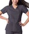 Photograph of Gen Flex Women's Mock Wrap Top Gray 817355-PEWZ