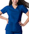 Photograph of Dickies Gen Flex Mock Wrap Top in Royal
